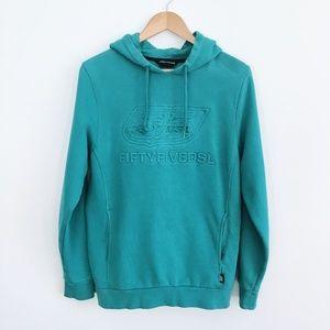 Diesel 55 Teal Hooded Sweatshirt - Size Small